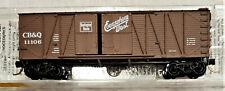 N Scale Cb&Q 40' Wood 1 & 1/2 Door Box Car - Cb&Q 10911 - Micro-Trains 29060
