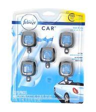 Febreze Car Vent Clips Air Freshener Linen And Sky 5 pk