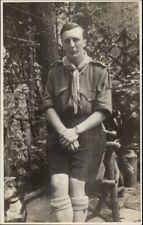 Boy Scout Troop Leader? Man in Uniform Real Photo Postcard