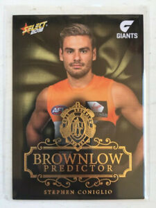2018 AFL Select Brownlow Predictor Stephen Coniglio BPG66 GWS 44/250