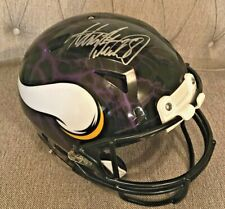 Adrian Peterson signed Minnesota Vikings Full Size Authentic HYDRO Dipped Helmet