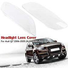 Pair Headlight Lens Headlamp Lampshade Cover For Audi Q7 2006-2015 4L0941029/30