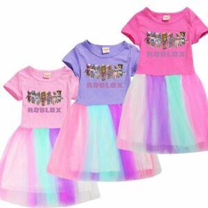ROBLOX GAME Kids Girls Dress Princess Children Cotton Gift Birthday Party Dress
