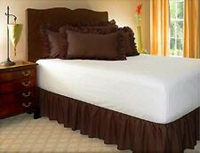 14 INCH DROP SOLID EASY FIT SET UP AROUND ALL CORNERS 1 PC BED SKIRT QUEEN SIZE