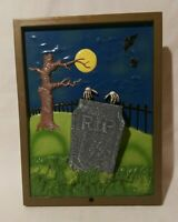 VTG 1998 The Paper Magic Group 3D Halloween Cemetery Wall Hang Portrait Scary