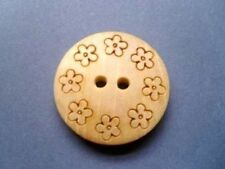Wooden Flower Costumes Sewing Buttons