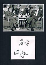 Deng Xiaoping 1904-97 & Helmut Kohl autograph signed China Communist leader