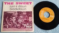 "THE SWEET turn it down / breakdown , single, 7"", Spain"