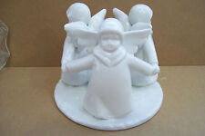 "3 Angels Ceramic Votive Candle Holder Figurine 5.5"" Across 4 1/4"" Tall"