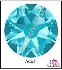 AQUA  Blue 72 pieces 20ss 5mm Swarovski Crystal Flatback Rhinestones 2088 Xirius