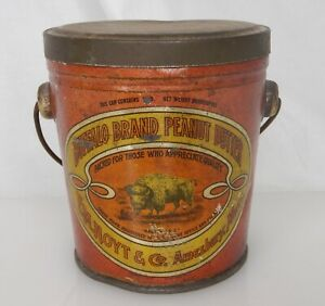 Buffalo Brand Peanut Butter Advertising Food Tin Pail Can - 83934