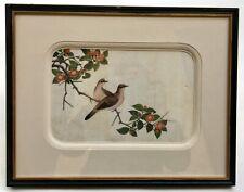 Peinture chinoise ancienne, Gouache sur papier de riz, Oiseaux, XIXe, 3/4