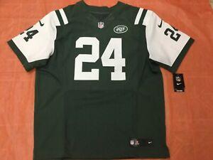 "Darrelle Revis Nike Authentic NFL ""ON FIELD"" Elite New York Jets Jersey- Size 52"