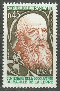 France 1973 MNH Mi 1847 Sc 1379 Armauer Hansen,Norwegian physician **