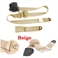 1 Sets 3 Point Retractable Adjustable Car SUV Seat Belt Buckle Safety Straps Kit