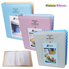 3 Photo Albums - Blue, Pink & Beige f/ FujiFilm Instax Mini 8+ White
