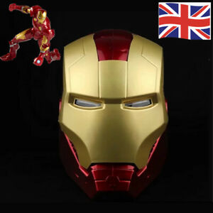 1:1 Tony Stark Marvel Avengers Legends Iron Man Electronic Helmet Cosplay Masks