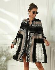 ladies New Cream, Black and Grey dress size M