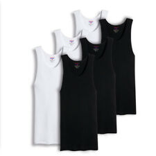 Mens 100% Big And Tall Cotton Tank Top Wife Beater A-Shirt Undershirt Ribbed