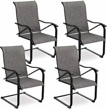 Patio Dining Chairs Set of 2/4 Outdoor Chairs Furniture for Lawn Garden Balcony