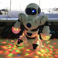 Robot Sing Dancing Walking Fun Lights Sound Toys For Kids Toy Birthday Xmas Gift