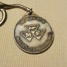 Vintage Massey Ferguson Man M F Logo Pendant Medallion Farm Key Chain Made Italy