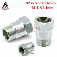 2* O2 Oxygen Sensor Extender Extension Spacer Bungs Adapter Silver M18*1.5 US