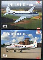 Amodel 72294 + 72334 - DH. 104 Dove + Devon - 1:72 - Flugzeug Bausatz - Kit