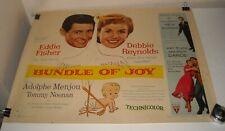 ROLLED 1957 BUNDLE of JOY 22 x 28 MOVIE POSTER DEBBIE REYNOLDS EDDIE FISHER