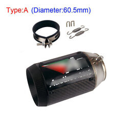 motorcycle Universal Exhaust Muffler Pipe Shortvent Tube Slip On 51mm /60.5mm