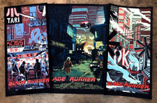 Blade Runner EXCLUSIVE Matching Variant 3 Poster SET Tim Doyle S/N /200 NT Mondo