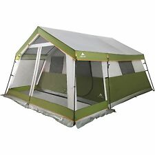 8-Person Family Cabin Camping Tent w/ Screen Porch Room Outdoor Shelter Hiking