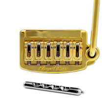 Floyd Rose Rail Tail Tremolo Kit Gold for Strat Style guitars, Wide RT300W