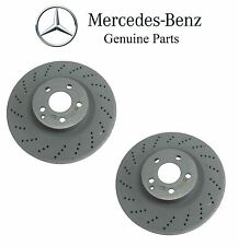 Mercedes W204 W207 W212 Pair Set of 2 Front Brake Discs Genuine 000 421 14 12