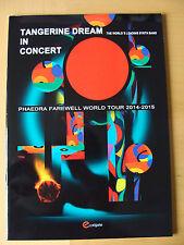 Programme: Tangerine Dream In Concert : Phaedra Farewell World Tour 2014 - 15