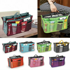 UK Women Organiser Handbag Travel Bag Insert Liner Purse Large Tidy Pouch Tote