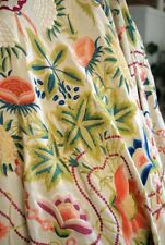 1900 Fine Hand Embroidered Canton Piano Shawl As Found For Cutting Floral Design