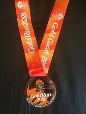 GENUINE 2018 XXI Commonwealth Games Running Medal Gold Run