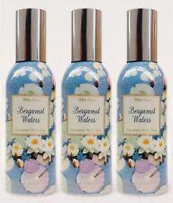 3 Bath & Body Works BERGAMOT WATERS Mini Room Spray Perfume Freshener