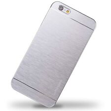 Sleek, Silver Brushed Metal Case, iPhone 6 Plus - Fast Free Shipping, iSwag4less
