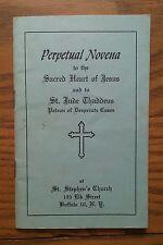 1959 CATHOLIC BOOKLET ~ PERPETUAL NOVENA TO SACRED HEART OF JESUS & ST. JUDE