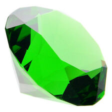 80 Mm Cristal Verde Forma De Diamante Pisapapeles de cristal gema Pantalla Adorno Regalo