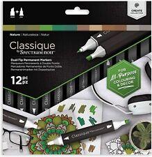 Spectrum Noir Classique - Dual Tip Permanent Markers - 12pc - (NATURE)