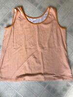 LANDS' END Sleeveless Round Neck Orange Print Tank Size XL 18 100% Cotton