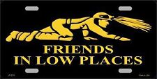 """Friends in Low Places Miners Novelty 6"""" x 12"""" Metal License Plate Auto Tag Sign"""