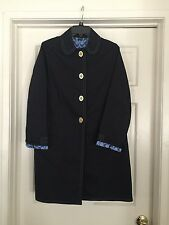 100% AUTHENTIC COACH BLUE TRENCH COAT JACKET SIZE 6
