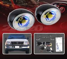 CUSTOM STYLE FOG LIGHT LAMPS KIT PAIR BLUE FOR 97-98 FORD F-150 TRUCK