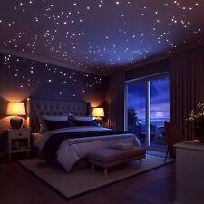 200 Stk. Wandtattoo leuchtend fluoreszierend Sternenhimmel Leuchtpunkte Dots