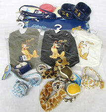 Discontinued Disney Pluto Medium Dog Kit Collar Leash Bowl Mat Shirt Lot of 16