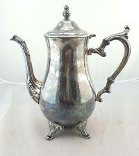 """Vintage ornate Tea Pot Silverplate W M ROGERS #800  10 1/2"""" Tall (R"""